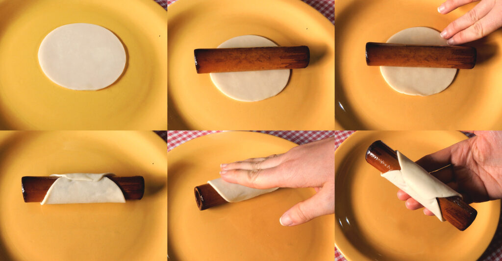 Cannoli de ricotta y crema pastelera