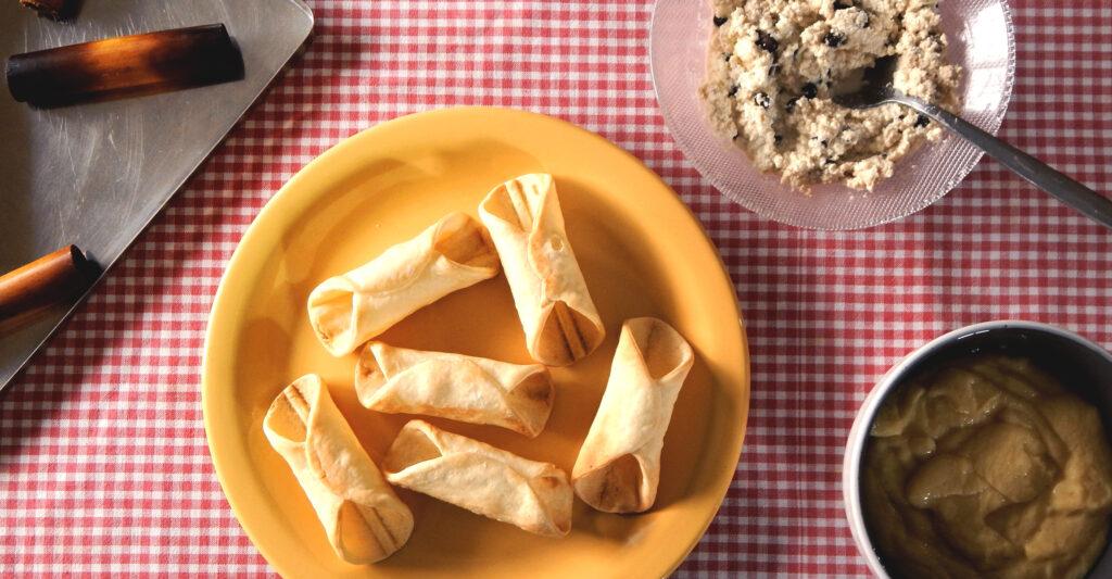 cannoli argentina tapa de empanada crema pastelera