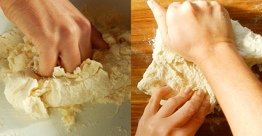 cavatelli pasta sin huevo a mano