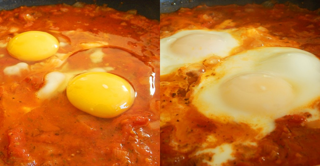 huevos en el purgatorio shakshuka tomates facil