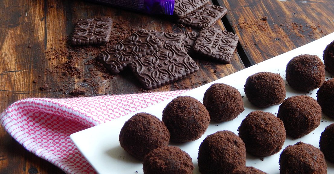 receta de trufas con chocolinas