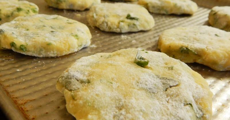 croquetas de papa al horno con queso perejil