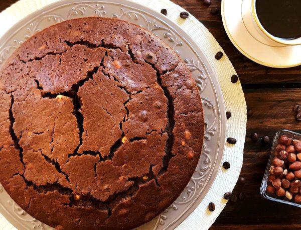 torta de cacao cafe avellanas bizcochuelo sin manteca