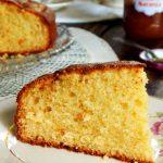 torta de naranja bizcocho bizcochuelo mermelada crema