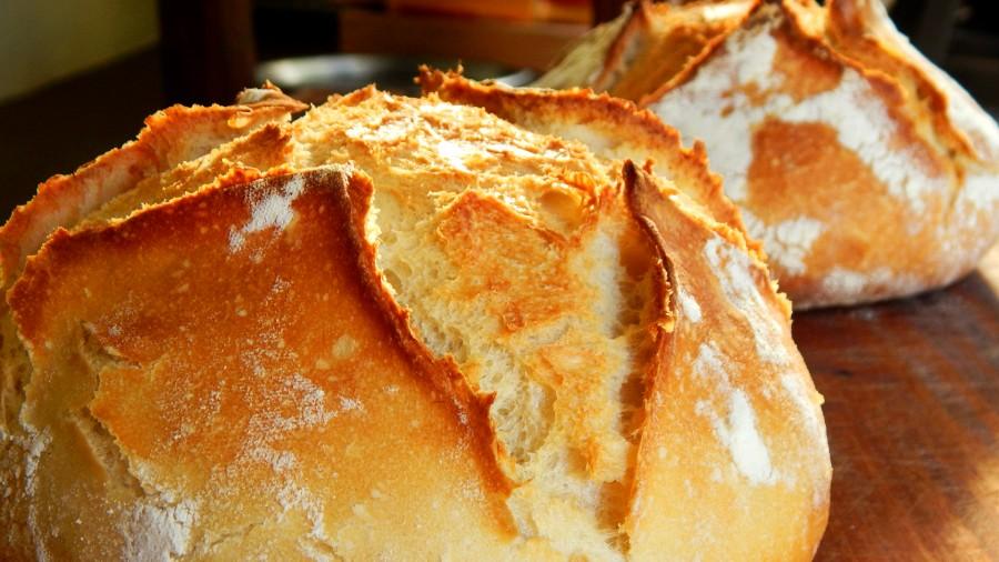 pan casero levadura horno hogar corteza dorada