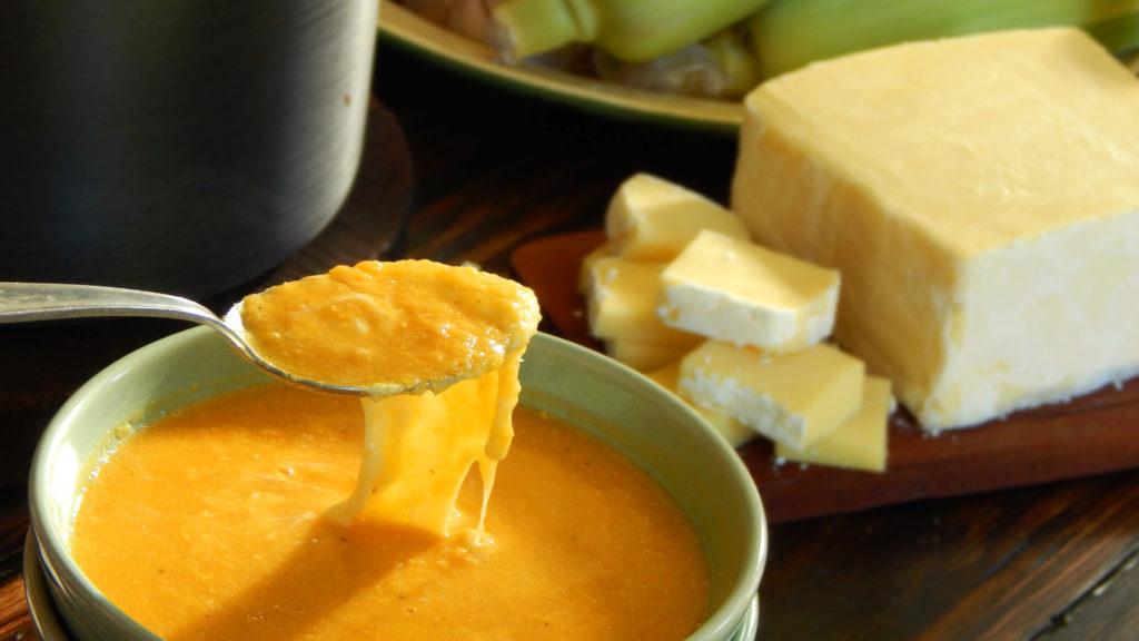 sopa de calabaza cremosa choclo queso