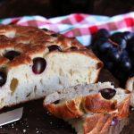 focaccia dolce dulce pan italiano uvas