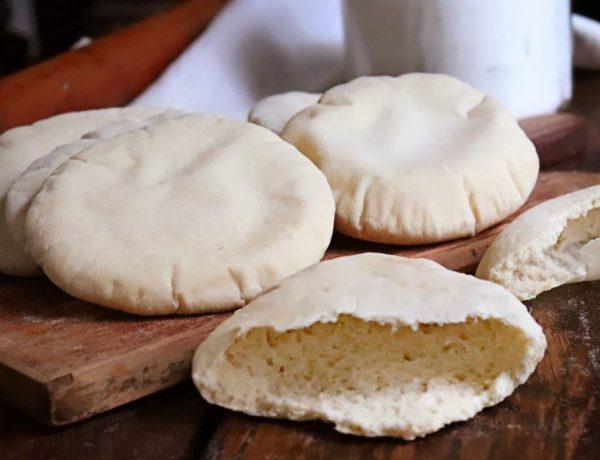 pan arabe pan pita chato casero
