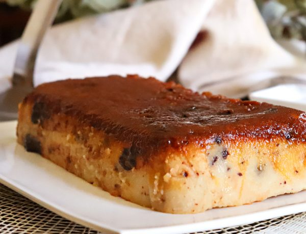 budin de pan casero chocolate caramelo