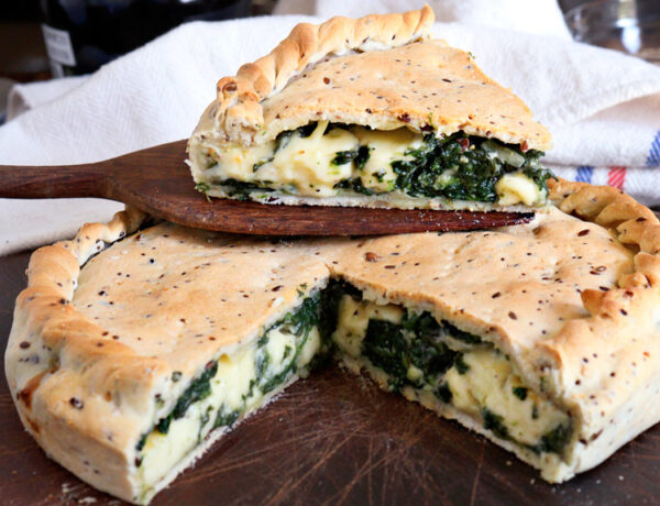 tarta de espinacas queso masa casera