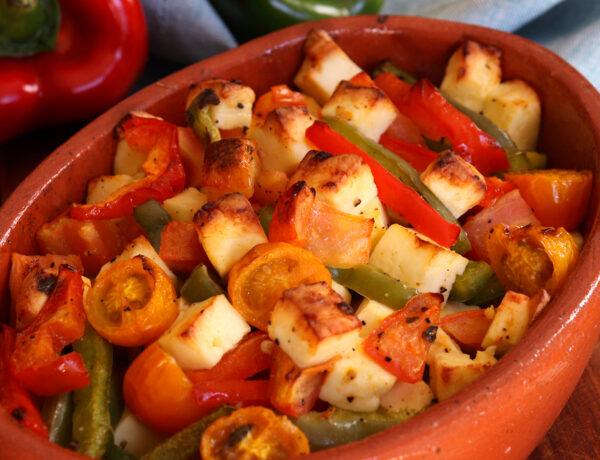 buyurdi bouyourdi griego queso feta ensalada tibia