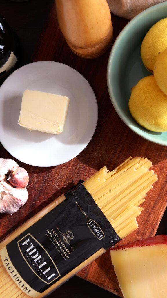 taglioini al limone pasta limon manteca